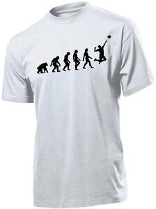 Divertente Shirt Pallavolo T Evoluzione Happiness Uomo FJ3K1clT