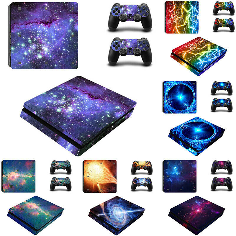 For PS4 Console Controllers Galaxy Decal Playstation Cool Cover Wrap Stickers UK