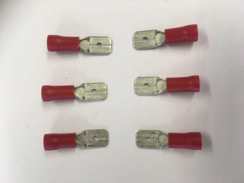 male spade tab electrical wire terminal connectors red