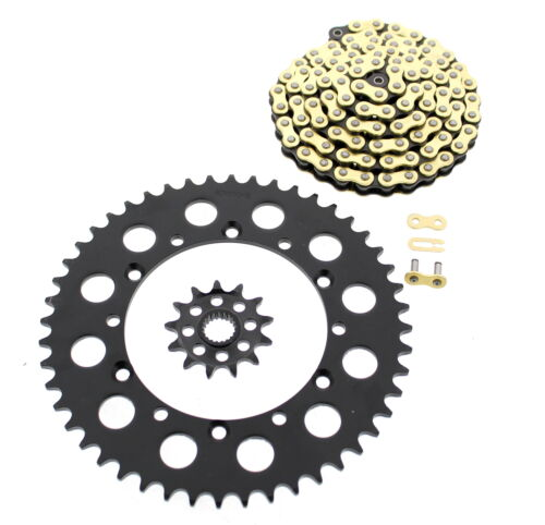 2006-2014 Kawasaki KX250 F 250 CZ Gold MX Chain and Black Sprocket 13//48 120L