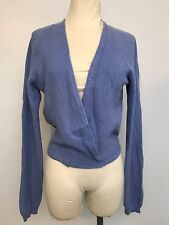 United Colors Of Benetton Periwinkle Blue Wool Angora Wrap Sweater Sexy Dance
