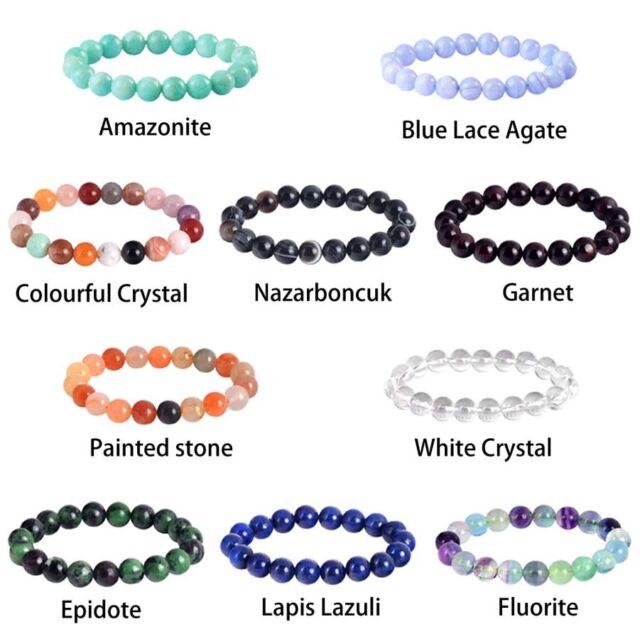 Agate 86.95 Cts Black Sulemani Hakik stretchable Bracelet beads 8 mm