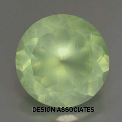 PREHNITE RARE FACETED GEMSTONE 14 MM ROUND CUT ALL NATURAL AAA