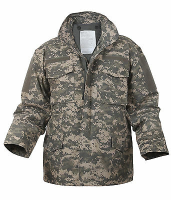 military jacket m-65 army acu digital camo with liner coat m65 rothco 8540