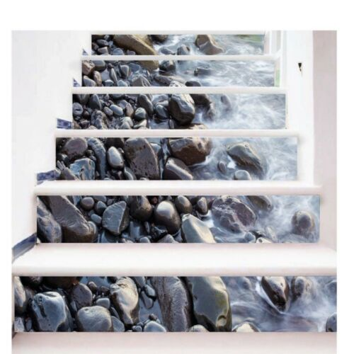 3D Stair Entrance Riser Staircase Wall Sticker Photo Mural Scenery Home Decal UK