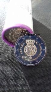 DISPO RARE 2 euro ESPAGNE 2018 Commémo Felipe VI Envoi en suivi.