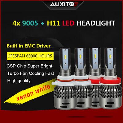 9005 Bulbs For Toyota Prius 2011-2010 High//Low Beam 4pcs LED Headlight Kit H11