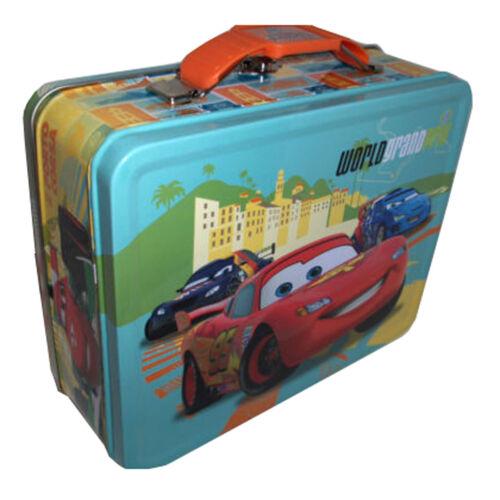 Disney Cars Lightning McQueen World Grand Prix tin metal lunchbox Lunch Box Sac