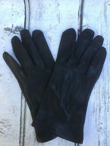 Image is loading BRITISH-MILITARY-BLACK-LEATHER-DRESS-GLOVES-SIZE-9 6a8165f6e36