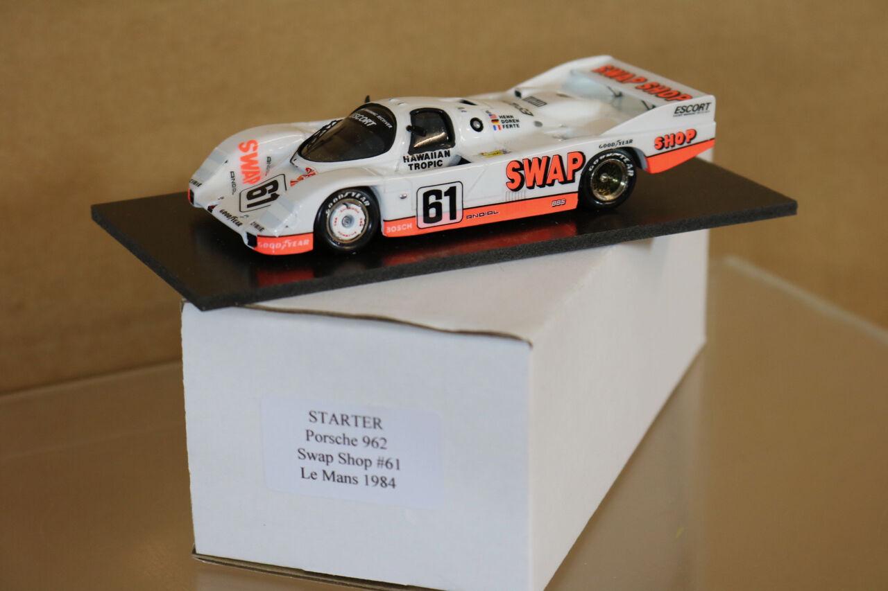 Starter Modele Le Mans 1984 Porsche 962 Swap Shop Car 61 Henn, Doren Ferte NG
