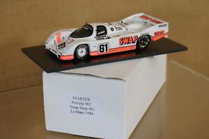 Démarreur Modèles Le Mans 1984 Porsche 962 Swap Magasin Voiture 61 Henn Doren
