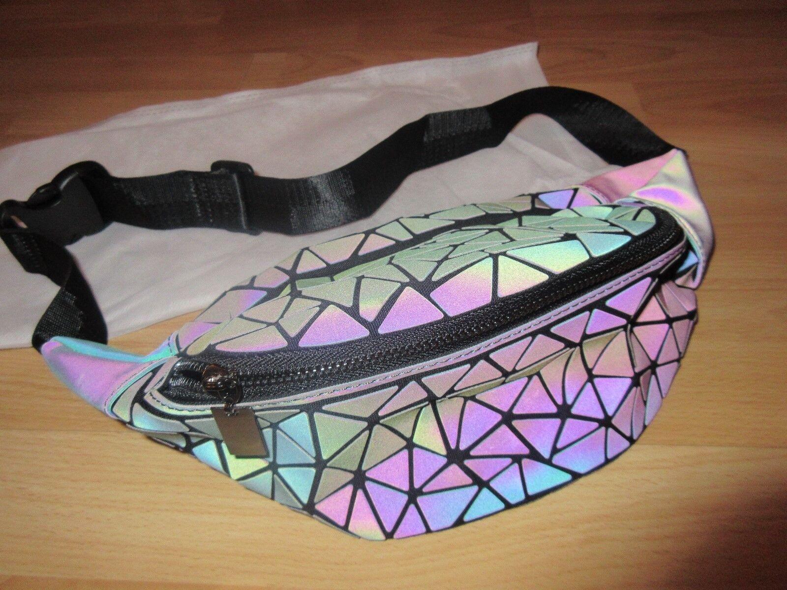 Bauchtasche Umhängetasche Gürteltasche geometrisches Muster Tasche Schwarz Grau | Tadellos  | Günstig  | Große Auswahl