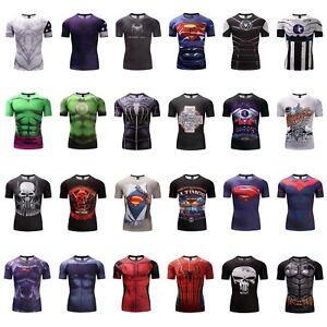 GYM-Men-3D-Print-T-shirt-Superhero-Superman-Marvel-Panther-Fitness-Cycling-Tops