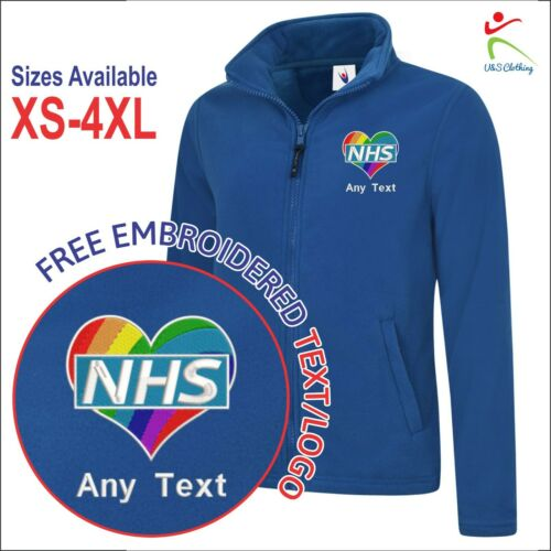 Personalised Love NHS Heart Logo Health Care Ladies Embroidered Jacket XS-4XL