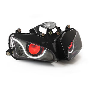 Details About Kt Led Headlight Assembly For Honda Cbr600rr 2003 2006 Red
