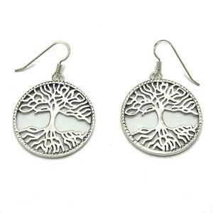 Sterling silver earrings solid 925 Leaf E000699 Empress