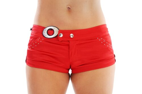 Wink Satin Hot Pants Shorts with Diamante Detail *Clearance Sale!*