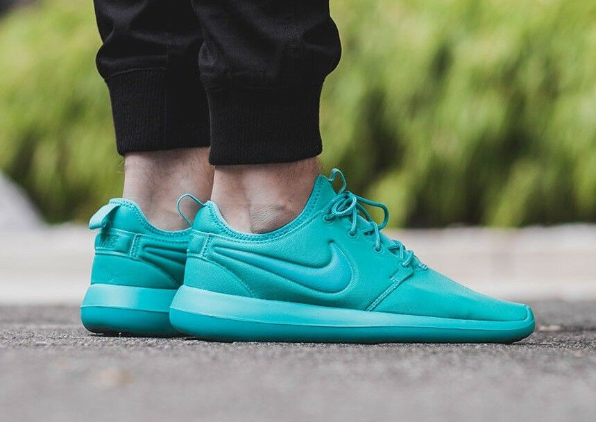 NIKE ROSHE TWO 2 Running Trainers Shoes Gym Casual -8.5 (EUR 43) Clear Jade
