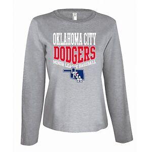 NEW-Official-MiLB-Oklahoma-City-Dodgers-Women-039-s-Long-Sleeve-Shirt-Gray-Medium
