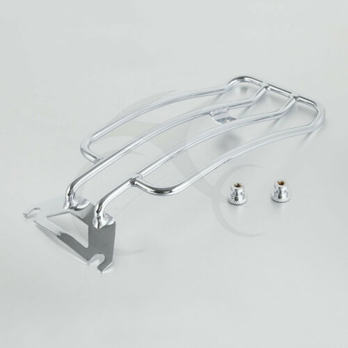Chrome Solo Seat Luggage Rack For 97-05 Harley-Davidson FLHTC Road King Touring