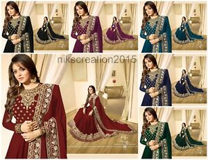 Constructif Indian Bollywood Mariage Salwar Kameez Suit Ethnic Wear Anarkali Suit Robe Lf-afficher Le Titre D'origine