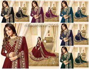 Acheter Pas Cher Indian Bollywood Mariage Salwar Kameez Suit Ethnic Wear Anarkali Suit Robe Lf-afficher Le Titre D'origine