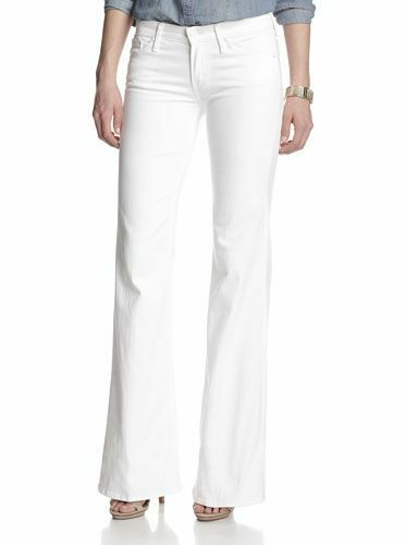 MOTHER Denim THE WILDER Mirror Mirror White 26 Flare Wide Leg Trouser Jean Pants