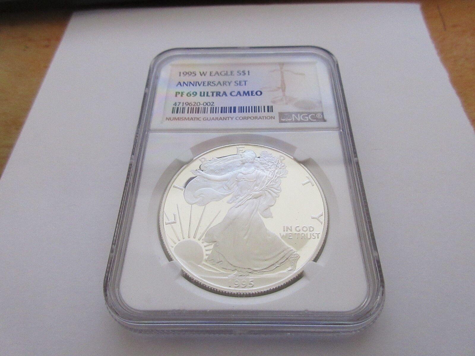 1995-W Proof $1 American Silver Eagle NGC PF-69 Ultra C