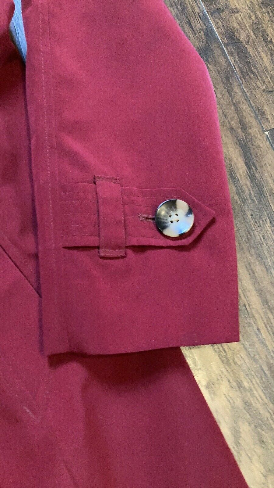 London Fog Red Trench Coat - image 3