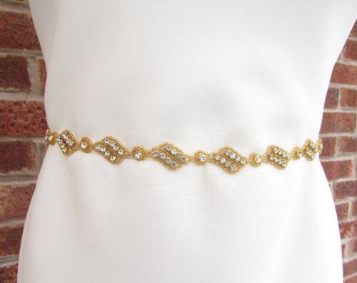 Argent or Strass Mince nuptiale robe de mariée ceinture strass demoiselle d/'honneur 6633