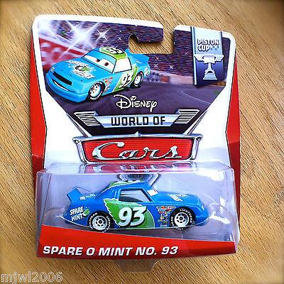 Disney World of Cars SPARE O MINT NO. 93 2014 PISTON CUP diecast 16/16 PIXAR