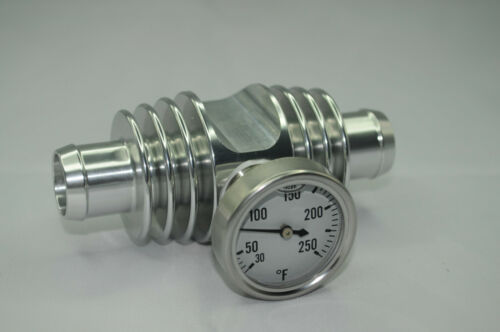 Super Cooler Temperature Gauge Silver Anodized YFZ450 TRX450 Banshee Raptor