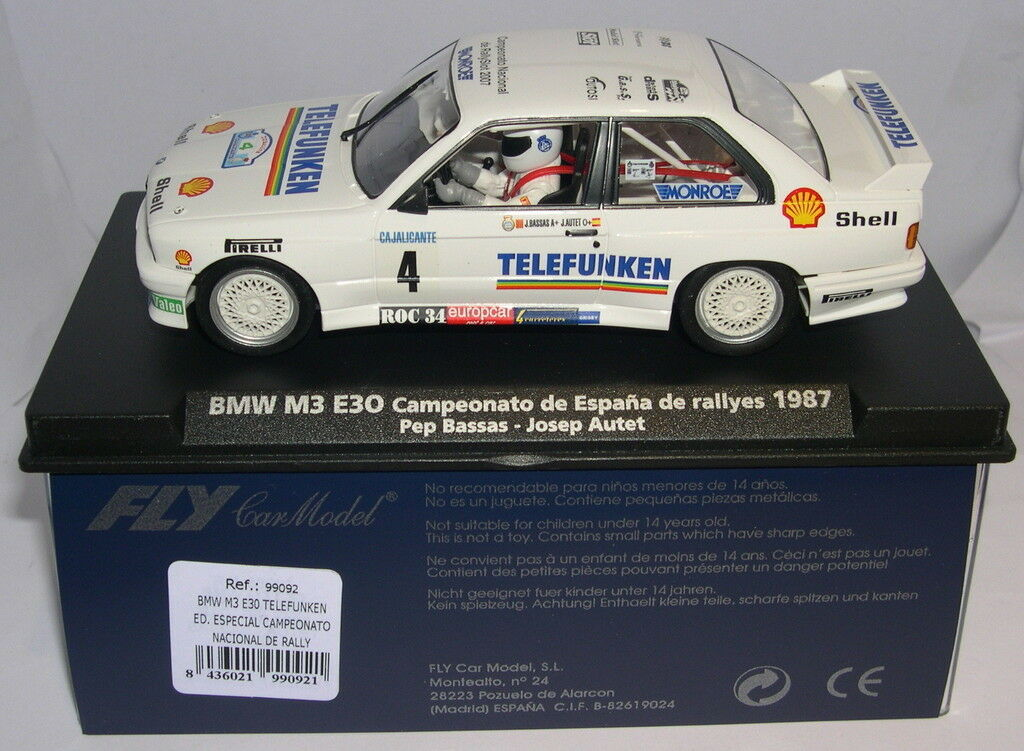 FLY 99092 BMW M3 E30 ED.SPECIAL CTO.NATIONAL RALLY'07 DRIVERS LTED. ED MB
