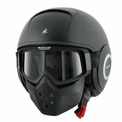 SHARK RAW Motorcycle Helmet Matte Black Size large New rogue helmet matt flat L