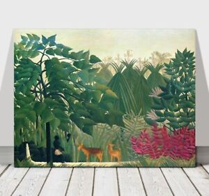 d0277be4546 Image is loading HENRI-ROUSSEAU-The-Waterfall-CANVAS-ART-PRINT-POSTER-