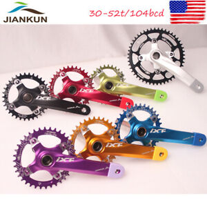 30-52T-CrankKset-Crank-BCD104-Narrow-Wide-Single-Speed-MTB-Road-Bike-Chainring