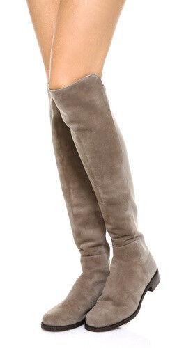 Stuart Weitzman 5050 Suede Over the Knee Boots Topo/Beige Size : 10 N