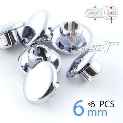 M6 allen key 6pcs//pack USA STOCK chrome bolt cap screw cover plug for M8 bolt