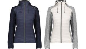 Das Bild wird geladen CMP-Woman-Jacket-Fix-Hood-Hybrid-Damen -Strickfleecejacke- e2e941a120