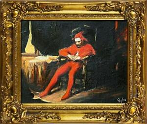 Painting-Oil-Picture-Frame-Baroque-Sta-czyk-Jan-Matejko-G01120
