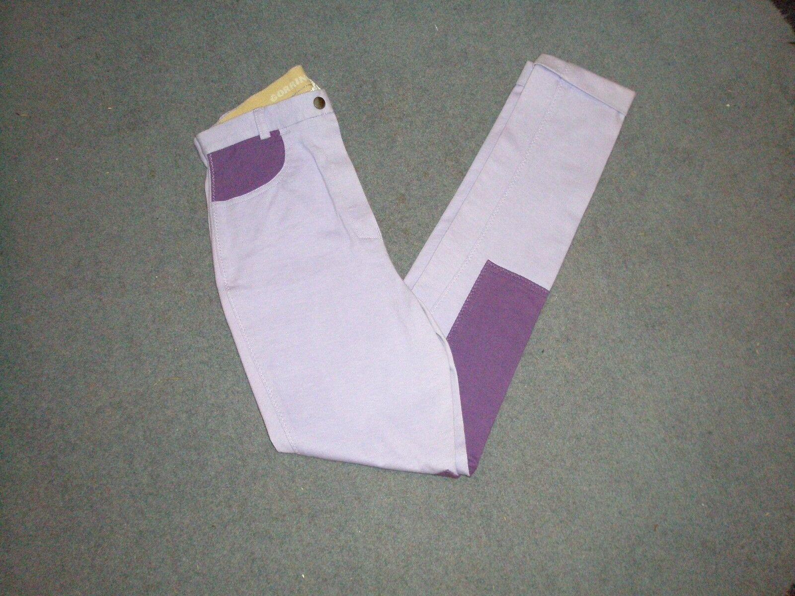 Gorringe Ladies Summer Light Jodhpurs purplec and Purple