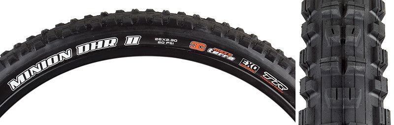 Maxxis Minion DHR Rear II 3C EXO TR Tire 26x2.3 Bk Fold 60 3c exo tr
