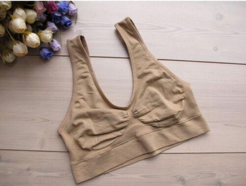 Seamless Comfort women Sports Style  Stretch Sports Bra Wire Free Running Bras