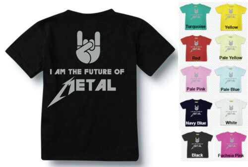 BABY//TODDLER ROCK T SHIRT I AM THE FUTURE OF METAL ALL SIZES
