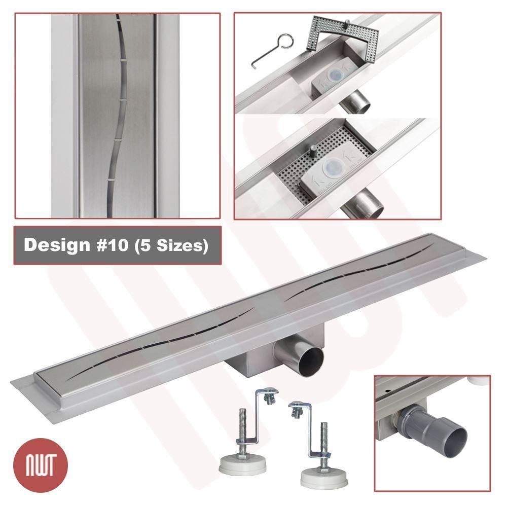 1000 mm acciaio inox rettangolare lunga lineare impermeabile design SCARICO (10)