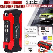 69800mAh 12V Coche Jump Starter Portátil USB Power Bank Batería Abrazadera de refuerzo 600A