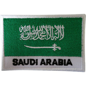 Saudi Arabia Flag Patch Iron Sew On Arabic Embroidered Badge Embroidery Applique