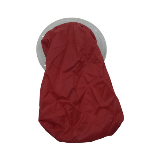 INSPECTION HATCH MANHOLE COVER with NYLON HOLDING BAG WHITE 205 mm INSPWHBAG