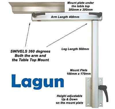 Lagun Marine Boat Motorhome - Swivel & Adjustable Cockpit Table Support Pedestal