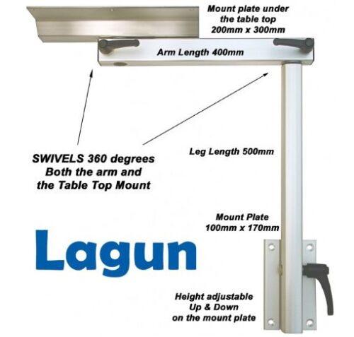 Dreh /& Einstellbare Höhe Tisch Sockel Lagun Tabelle-halterung RV Wohnwagen